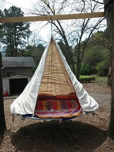 Finally My Own Hanging Trampoline Bed Pottery Barn Outdoor