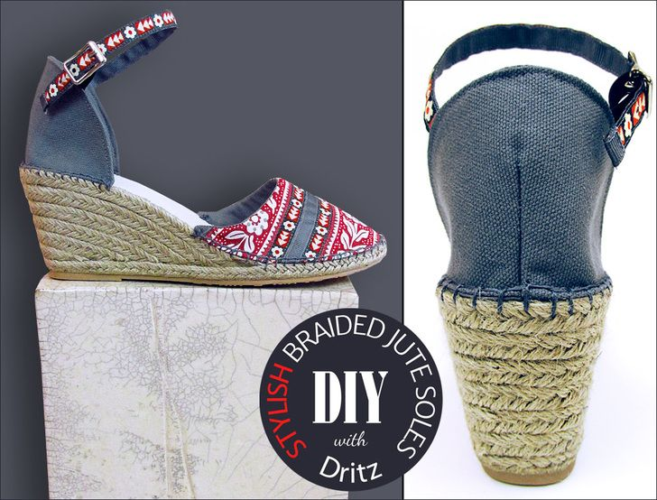 Easy Summer Sewing Project Features New Wedge Jute Espadrilles