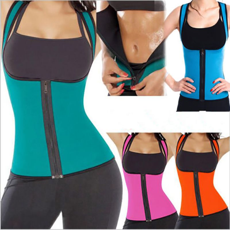 Reviews Extreme Blue Slimming Redu Thermo Cami Hot Slim Belt Neoprene Shaper Vest Sweat Usps Extreme Waist Training Corset Women S Shapewear Plus Size Women