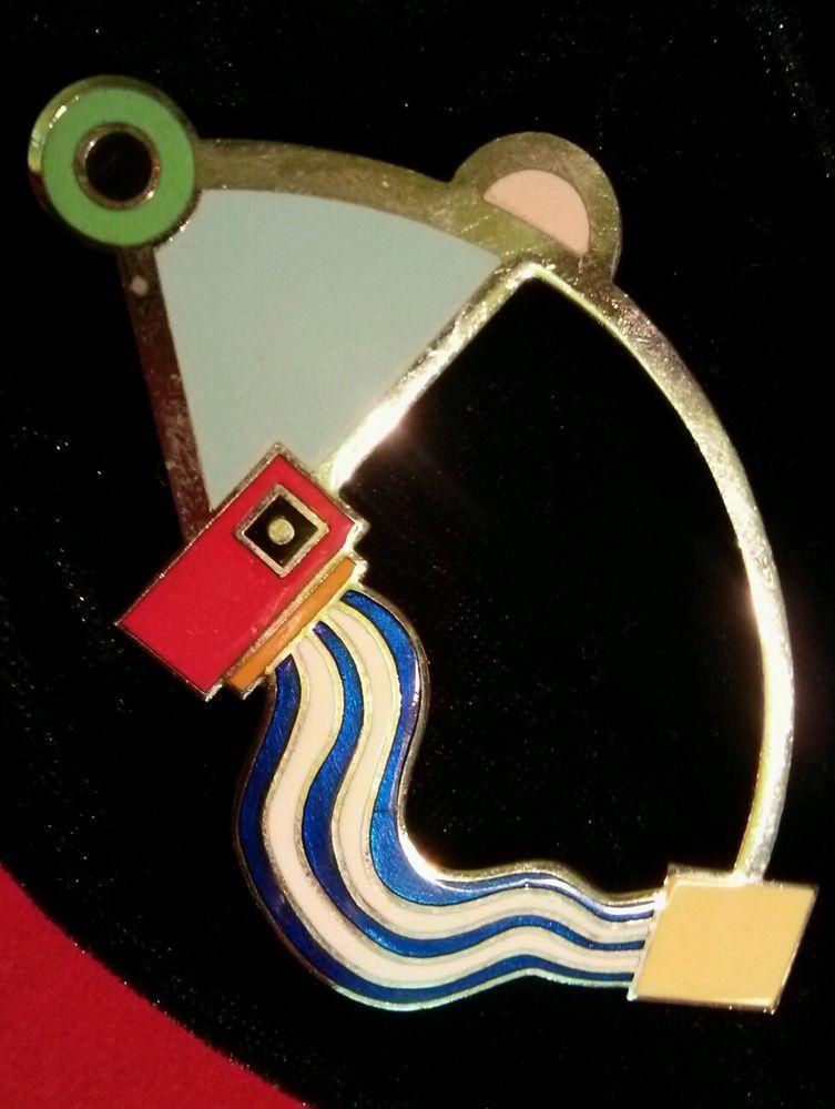 "Beautiful Rare Vintage Memphis Pin! ""Oreliana""  Marco Zanini for Acme Studio."