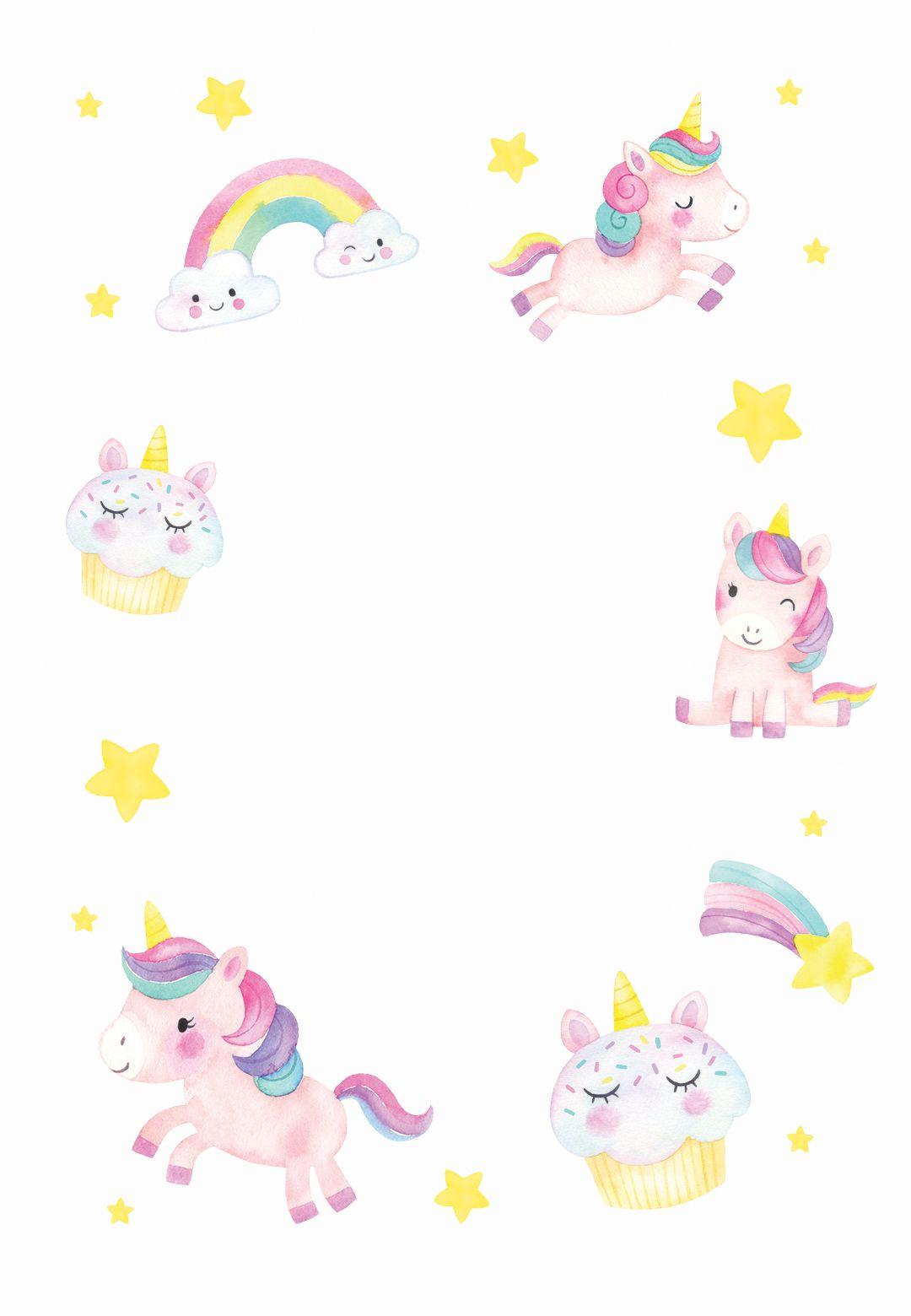 lucky unicorn birthday invitation