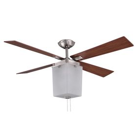 Allen roth le marche 56 in brushed nickel downrod mount indoor interesting design good for 2 for livingroom allen le marche brushed nickel ceiling fan with light kit energy star 199 aloadofball Gallery