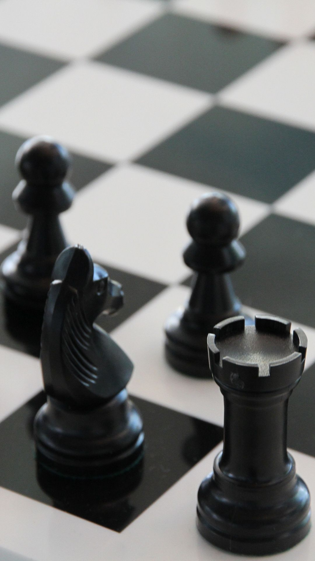Download Wallpaper 1080x1920 Chess, Chessboard, Figure, Bw