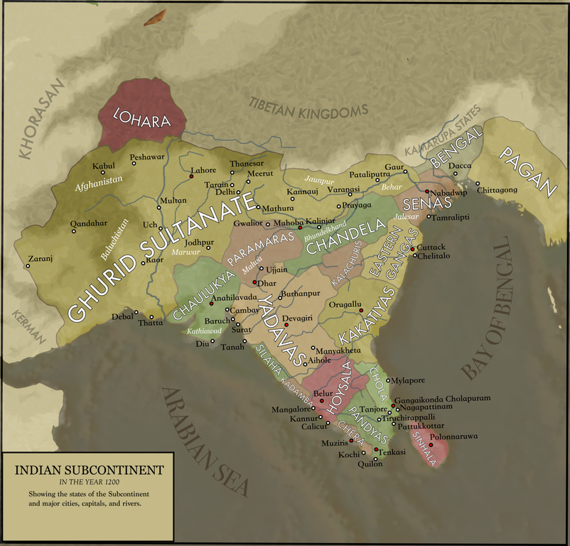 Map of India in 1200   The World   Pinterest Map of India in 1200