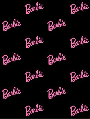 Barbie black pink logo background Papel de parede barbie