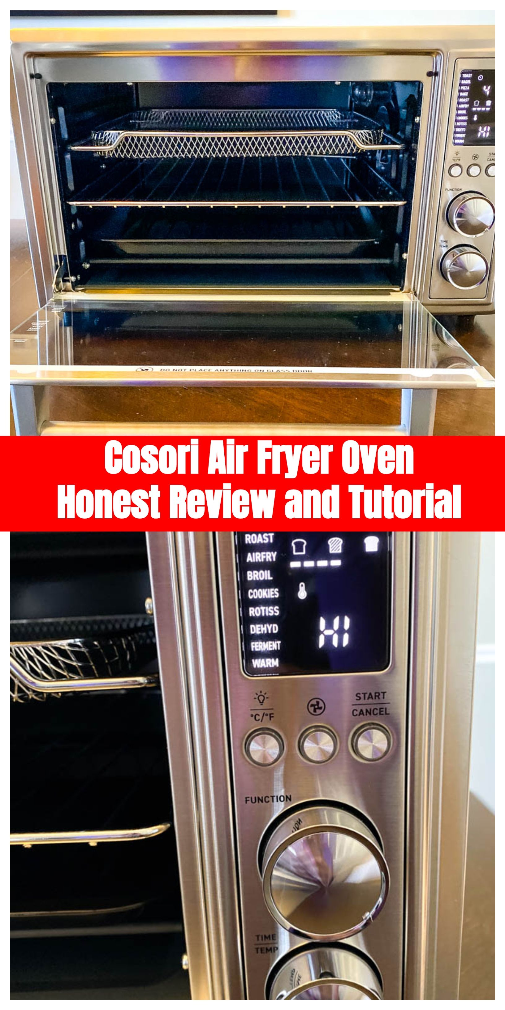 Cosori Air Fryer Toaster Oven Honest Review Outlines The Best Features And Specifications Of The 30l 1800w Oven Air Fryer Oven Recipes Air Fryer Toaster Oven