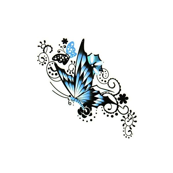 latest-blue-ink-butterfly-tattoo-design.jpg (600×600)