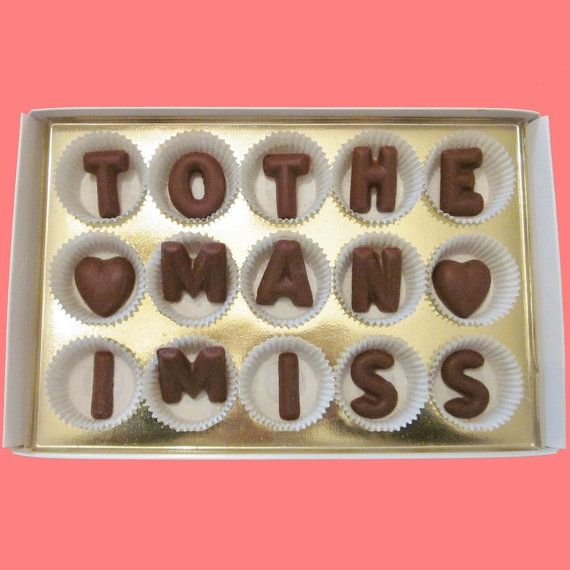 To The Man I Miss Large Milk Chocolate Letters Cute Unusual Long