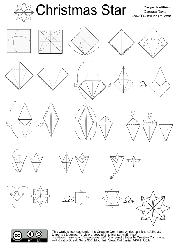 nice christmas origami instructions http www ikuzoorigami com rh pinterest com origami christmas star diagram Christmas Origami Snowflake