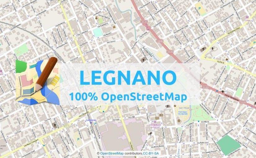 Un giorno della settimana scorsa, sono tornato su OpenStreetMap, per vedere come era mappata la città di Legnano. Sapevo di non trovarmi granché, ma speravo che fosse mappata in buona parte. Ho creato subito un atlante col tool online mapOSMatic