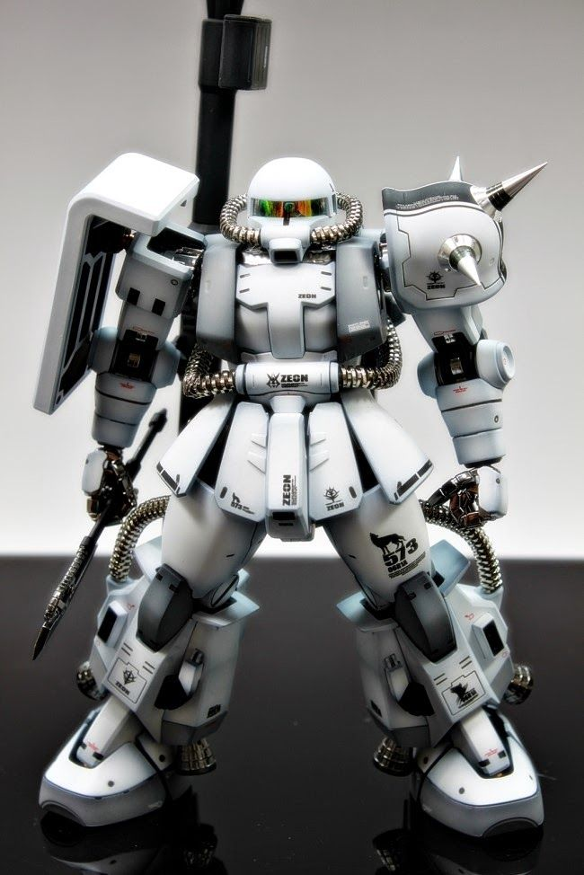 GUNDAM GUY: MG 1/100 Zaku II [Club S Project] - Customized Build