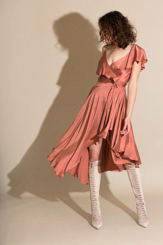 3fb08450a302 Zimmermann - Rose Sueded Asymmetric Wrap Dress | BONA DRAG | She's ...