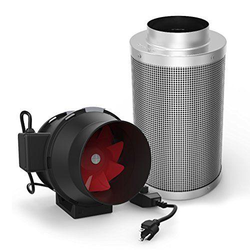 Growneer 6 Inch 390 CFM Inline Duct Mixed Flow Fan w ...