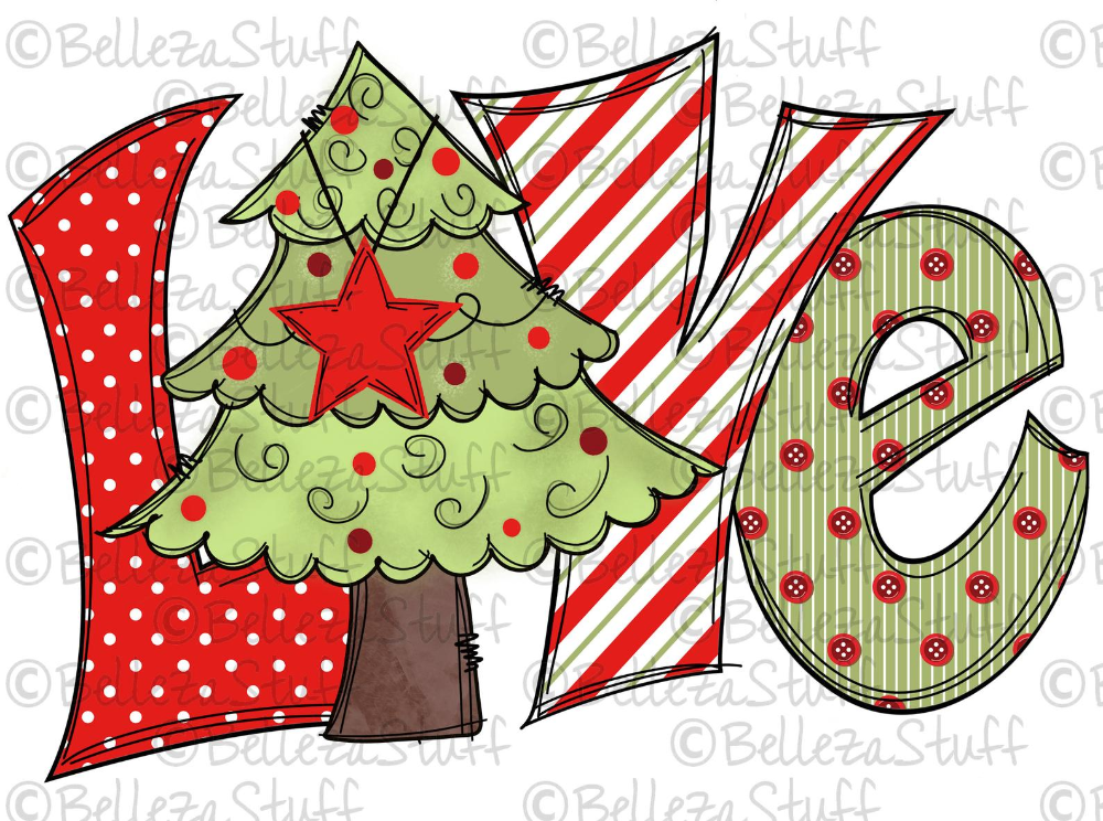 Love Christmas Tree Png File Sublimation Design For Digital Download And Printable Winter Christmas Christmas Drawing Whimsical Christmas Christmas Paintings
