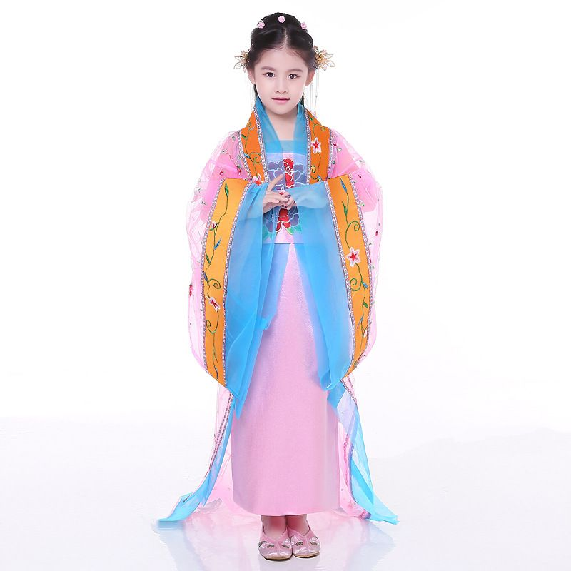 3ce561d39 Children Fairy Costume Chinese Princess Dance Dress Female Tang Dress Girl  Hanfu Costume Chinese Traditional Costume For Kid 89 #Affiliate