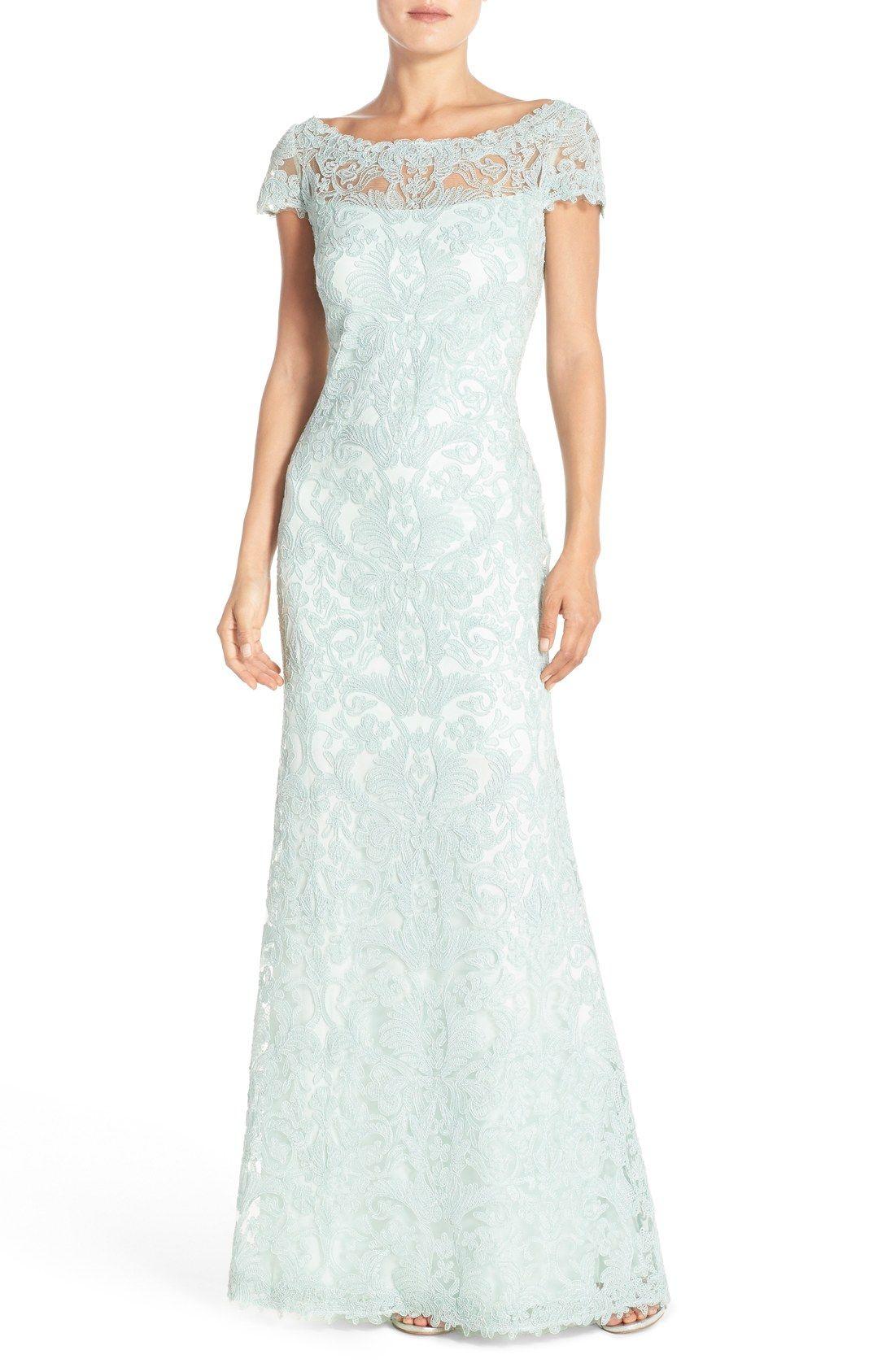 Tadashi Shoji Lace Column Gown (Regular & Petite) | Nordstrom ...
