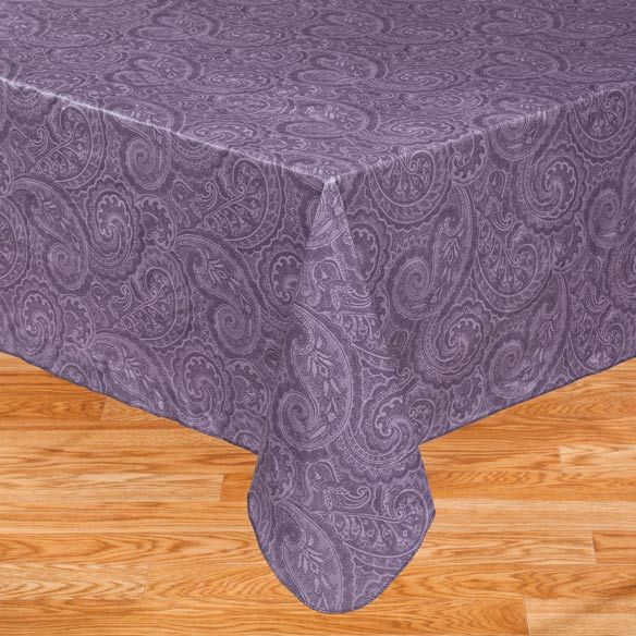 Paisley Vinyl Table Cover - Zoom