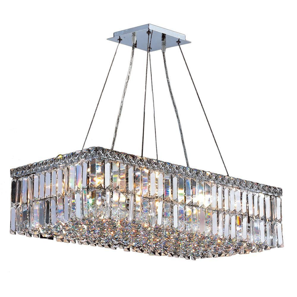 Worldwide Lighting Cascade Collection 16-Light Polished Chrome Crystal Chandelier