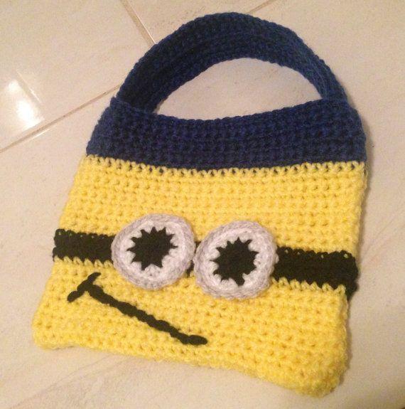 Crochet Minion Childrens Bag by FUNKYSKYE on Etsy, £12.31 | tejidos ...