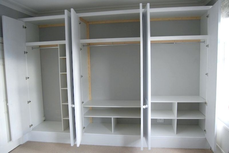 Wardrobes Bq Sliding Wardrobe Doors Interior For Small Openings Google Search Full Wall Made To Measure Shaker Style White