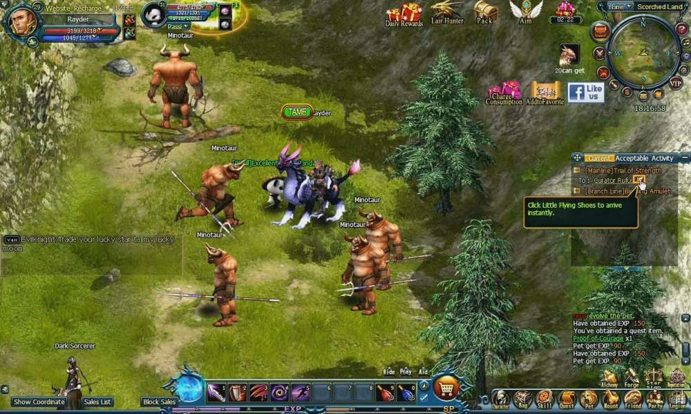Warriors of Atlantis is a browser based game, Massively Multiplayer