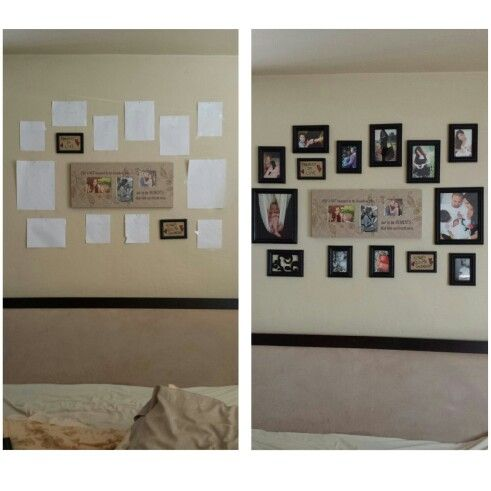 Easier Way For Adding Multiple Frames Diy Multipleframes Cut Paper The Same Size As Picture Tape On Wall And Adjust To Diffe Frame