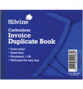 "Buy the new ""Silvine Dup Book Invoice"" online today. Now in stock."