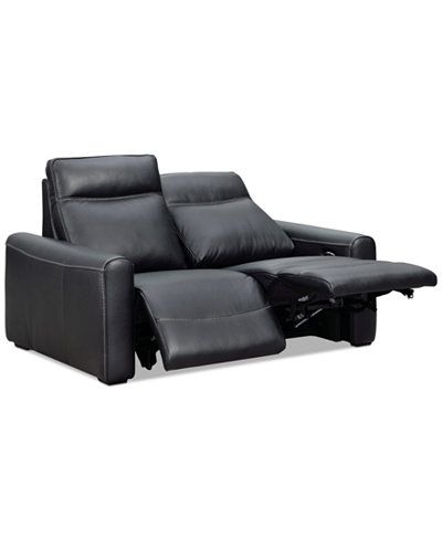 Marzia Leather Loveseat with 2 Power Recliners  sc 1 st  Pinterest & Marzia Leather Loveseat with 2 Power Recliners Created for Macyu0027s ... islam-shia.org