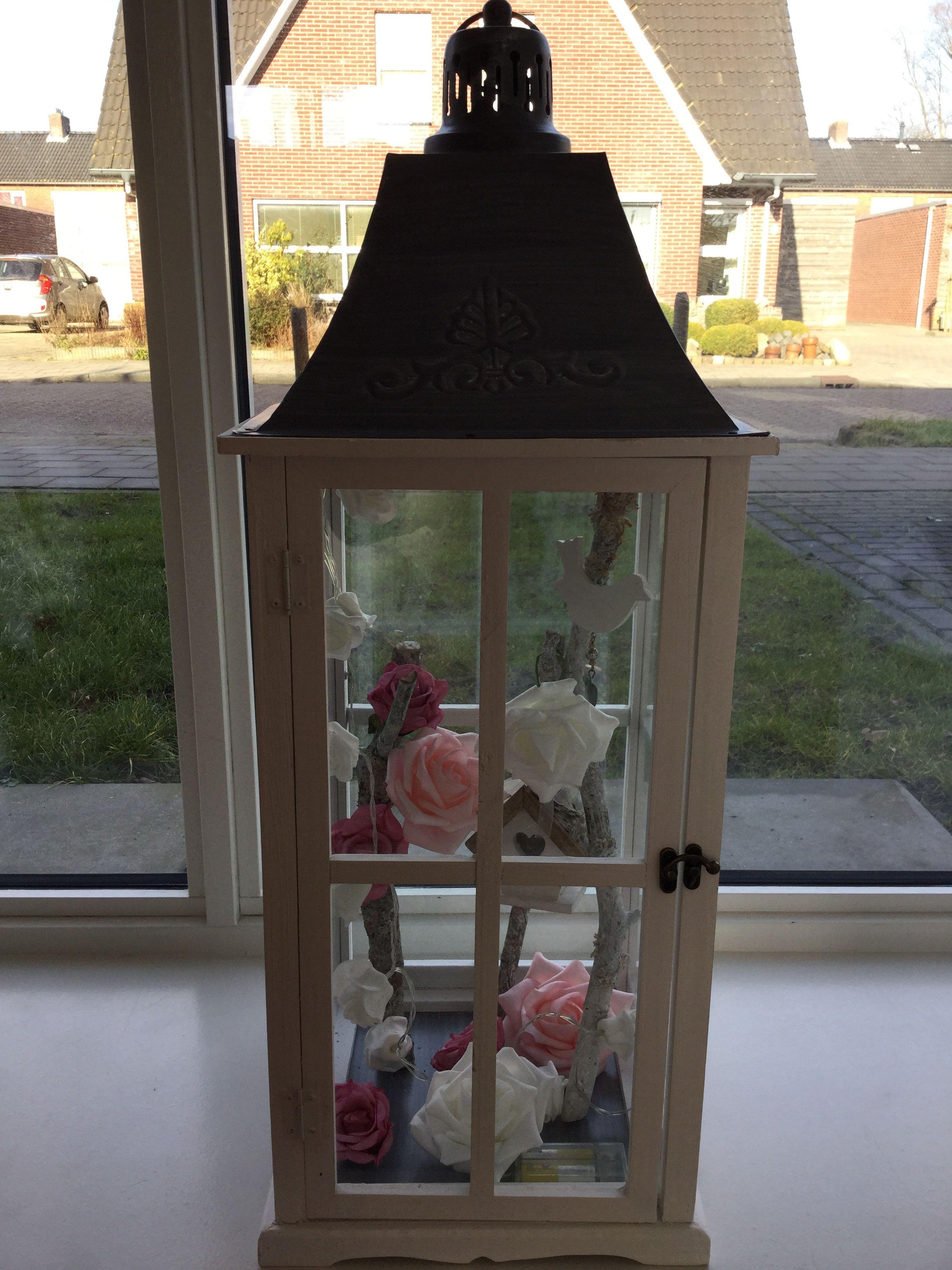 Windlicht Met Decoratie Van Action Decoratie Huisdecoratie Leuke Ideeen