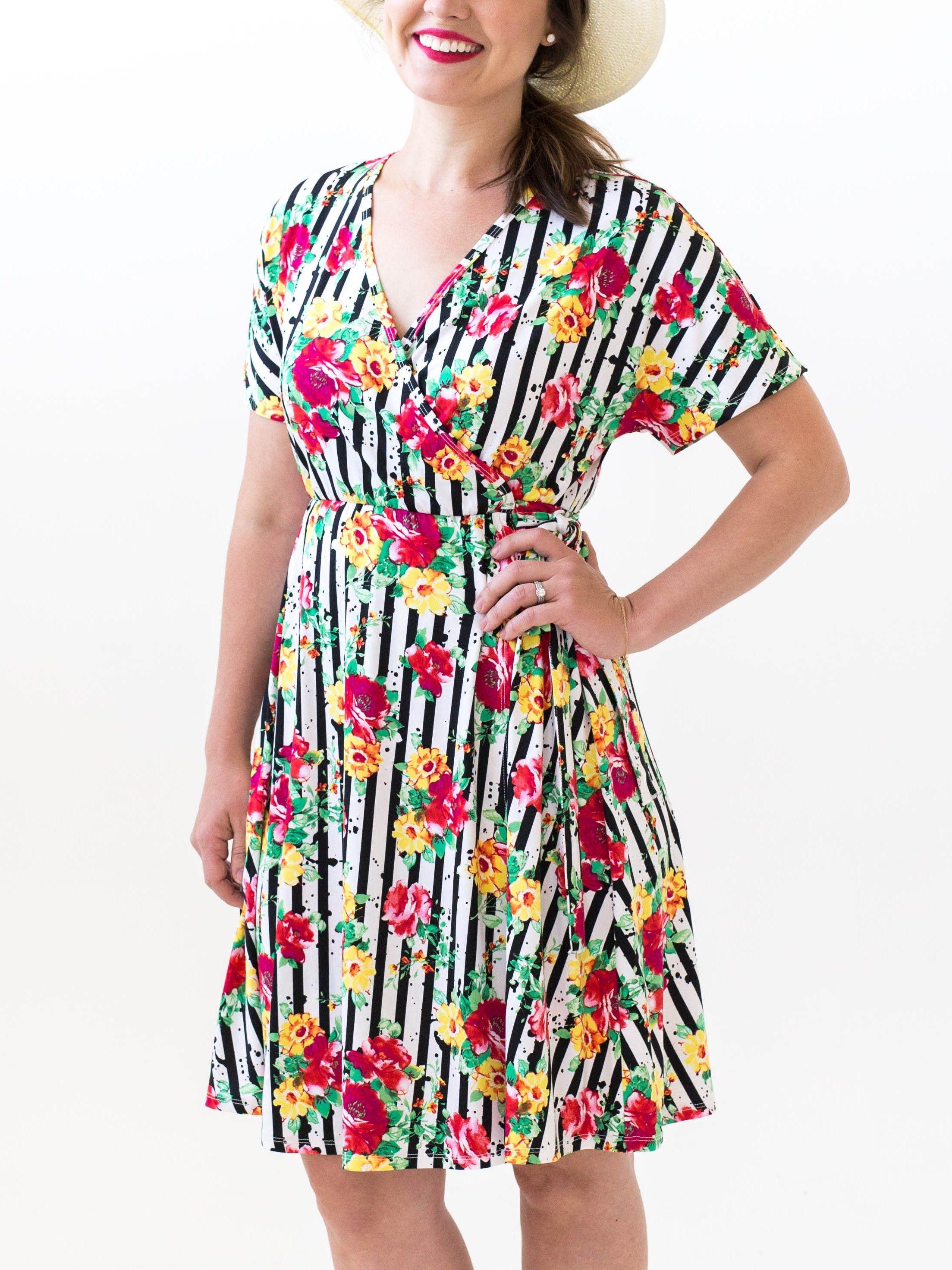 6c37741fb6 Agnes   Dora - Nightingale Dress Stripes and Blooms www.shopwithashlie.com