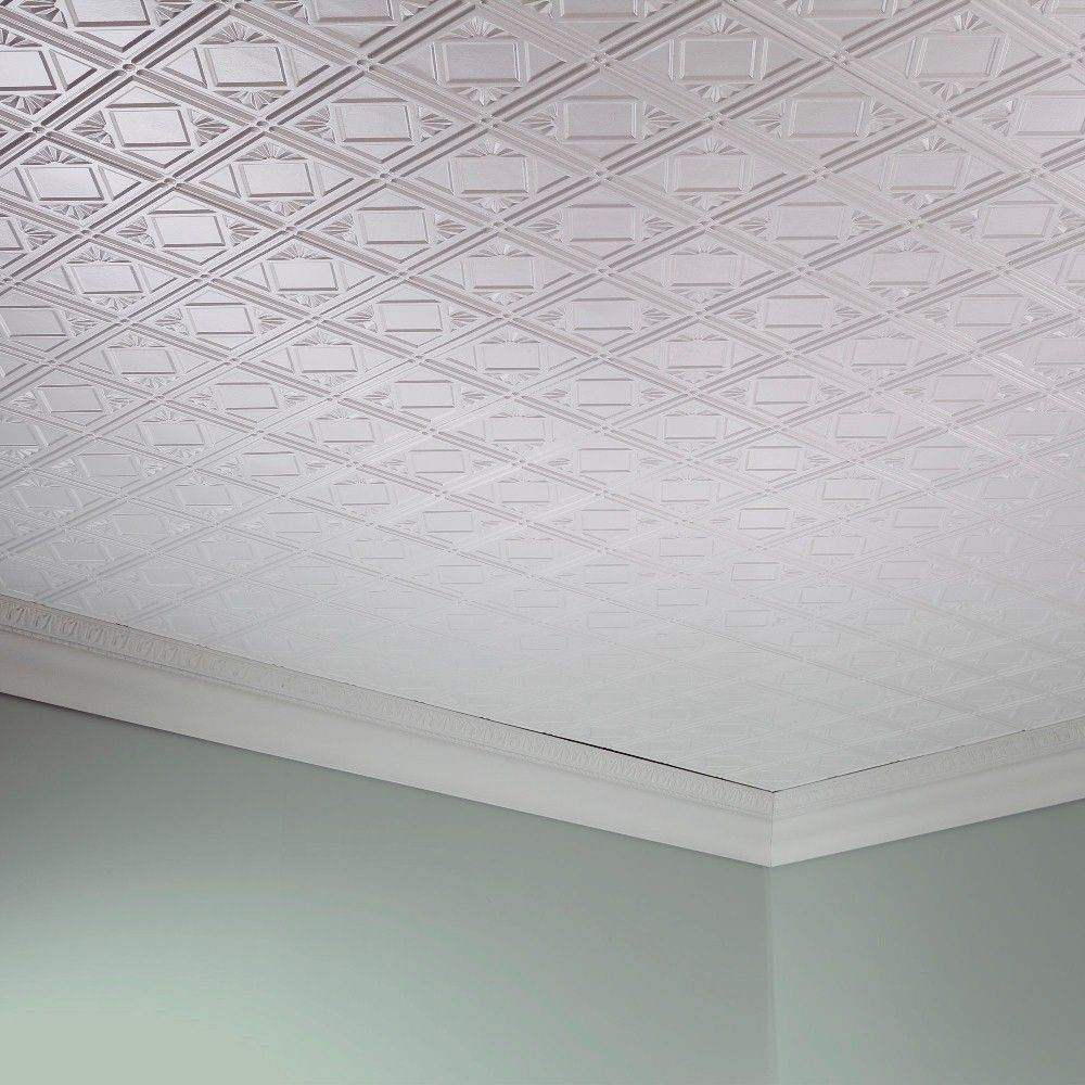 These pvc tiles are water and corrosion resistant for exceptional the ceiling panels feature quick and easy direct apply installation with dailygadgetfo Gallery