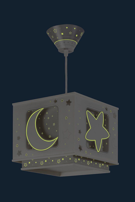 Dalber Fluoreszierende Hangelampe Mond Und Stern Braun 63232e
