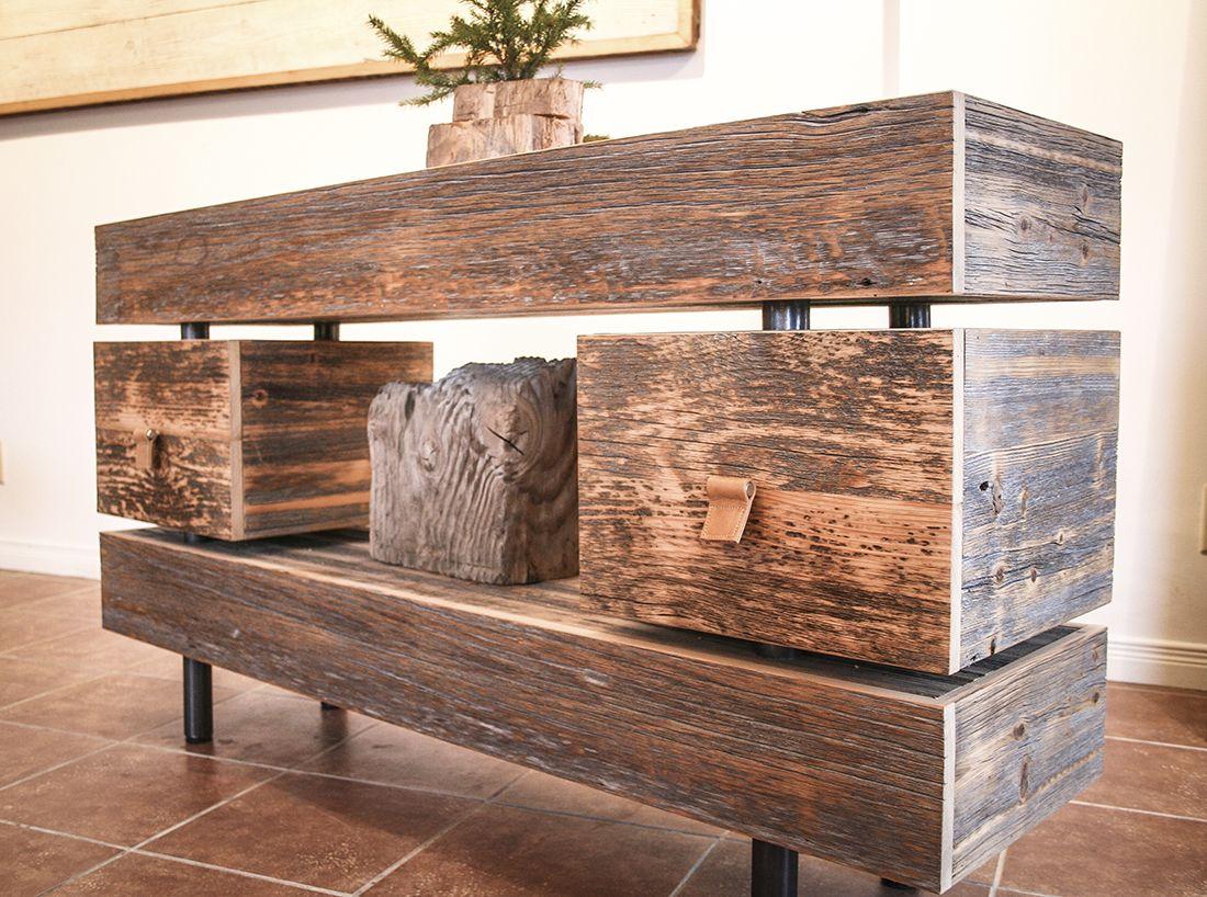 meuble t l en bois de grange idees deco meuble bois. Black Bedroom Furniture Sets. Home Design Ideas