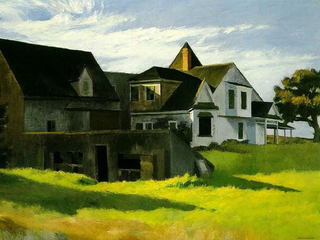 Cape Cod Afternoon by Edward Hopper. Bello...