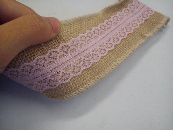 pink+burlap+ribbon+hessian+ribbon+jute+lace+ribbon+by+Kraftfolks,+£2.50