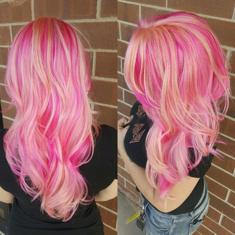 Prism placement using pravana vivids and pastels for this