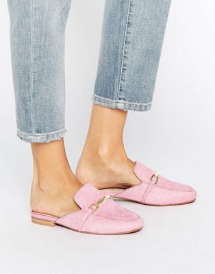 6f3aa5aa20e ASOS MOVIE Leather Mule Loafers