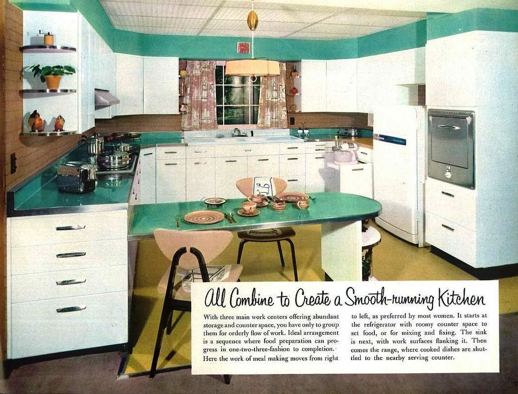 Praise-winning kitchens by Republic Steel Corp  (1956