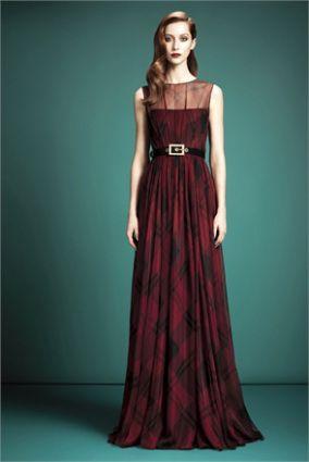 Tartan Tartan dress and Gowns on Pinterest
