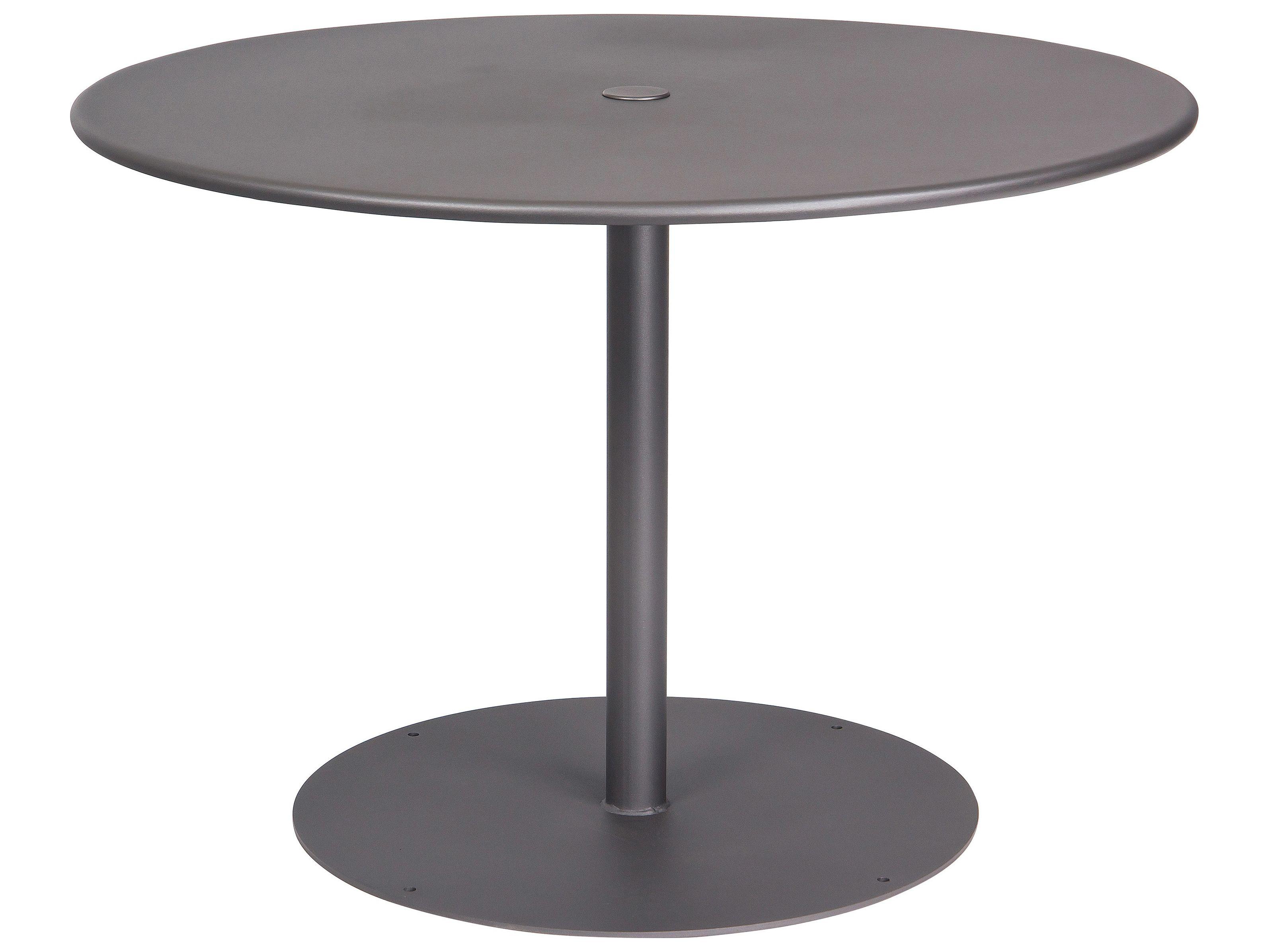 Woodard Wrought Iron Ada 42 Wide Round Dining Table With Umbrella Hole Round Dining Table Wrought Iron Table Wrought Iron [ jpg ]