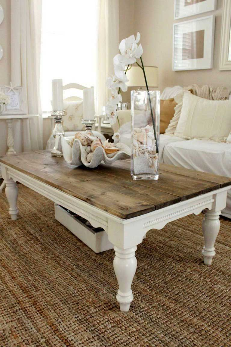 Awesome Gorgeous Rustic Round Farmhouse Coffee Table By Www Top