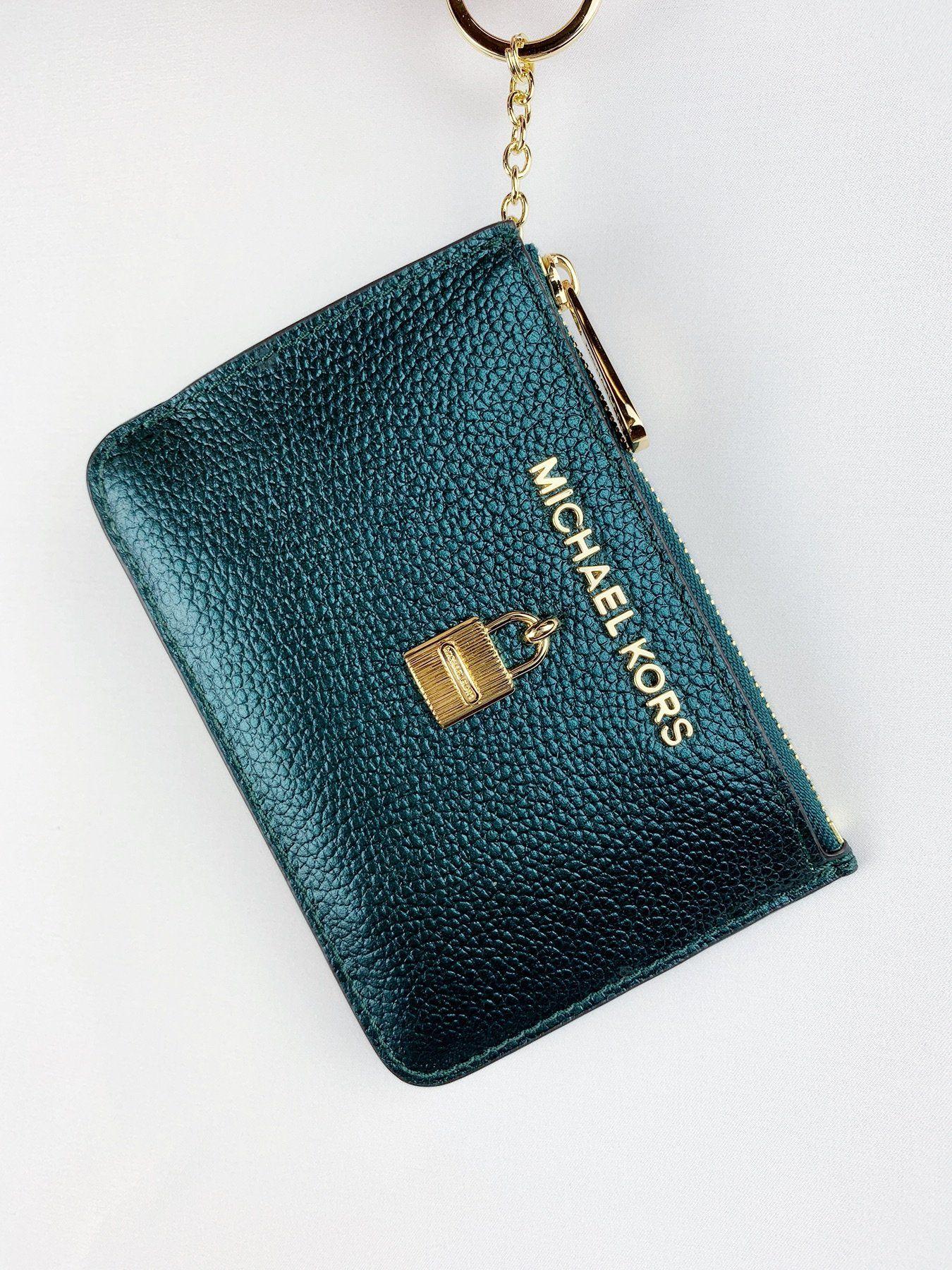 michael kors jet set travel zip coin wallet id keyring card holder rh pinterest com