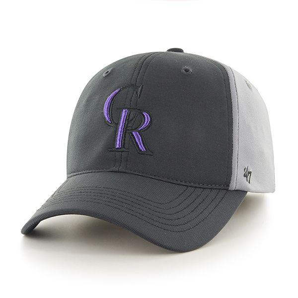 67a083b74ffaa ... france colorado rockies feldspar closer dark gray 47 brand stretch fit  hat 31991 e1fbd