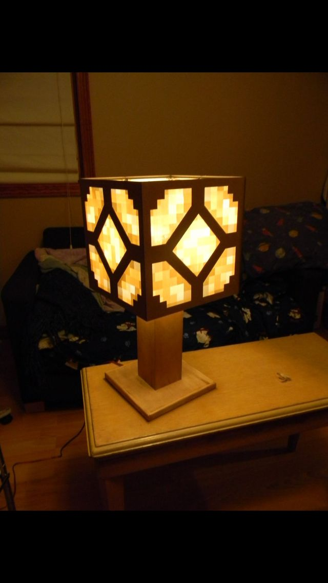 Epic real life minecraft redstone lamp!!! | Minecraft