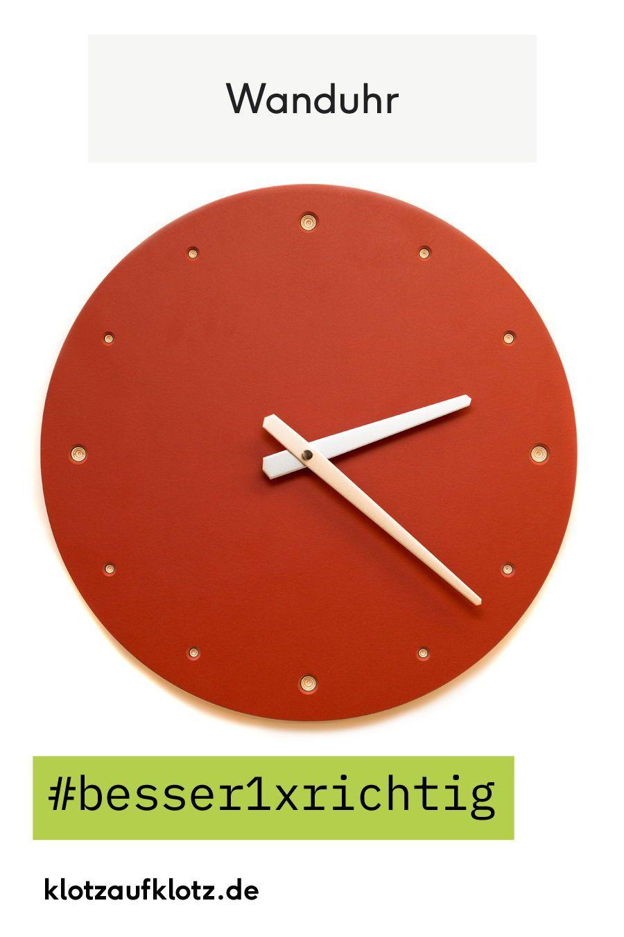 Etwas Farbe Gefällig Unsere Rote Wanduhr Peppt Jedes Zimmer Auf Besser1xrichtig 129handgriffe Rotrotrotsindallemeinefarben Holzkoe Wanduhr Wand Uhr