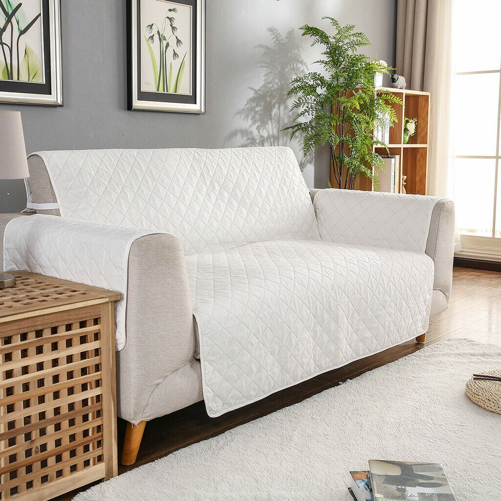 Quilted Microfiber Pet Dog Couch Slipcovers Sofa Covers Off White 190x195cm White Sofa Ideas Of White In 2020 Leather Sofa Bed Modern Sofa Bed White Sectional Sofa