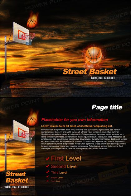 Street Basketball Free Powerpoint Template Free Powerpoint
