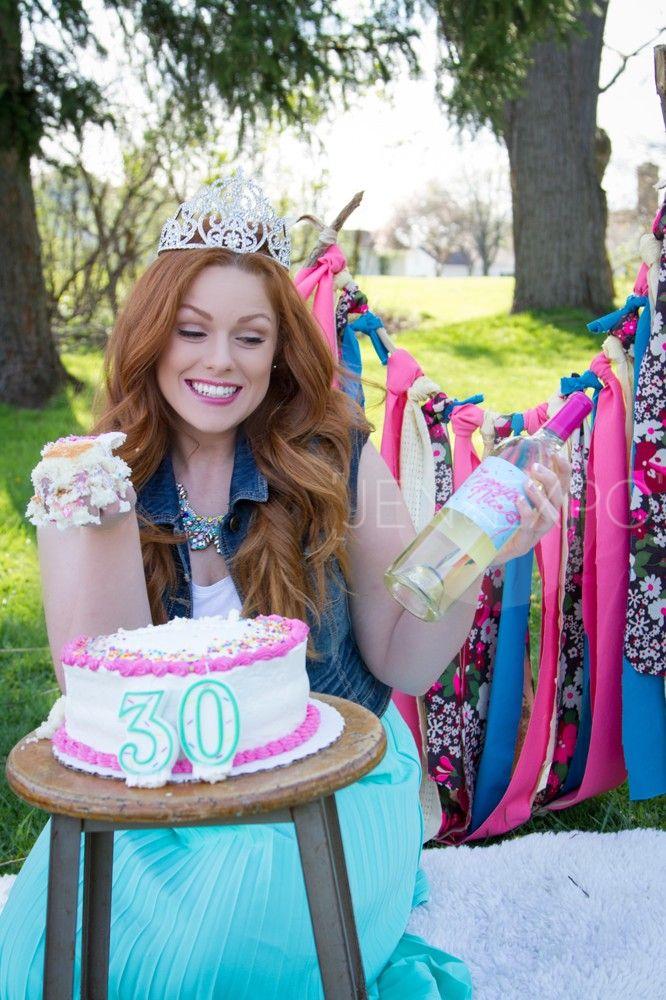 Adult Cake Smash Shoot Birthday 40th Cakes Girl