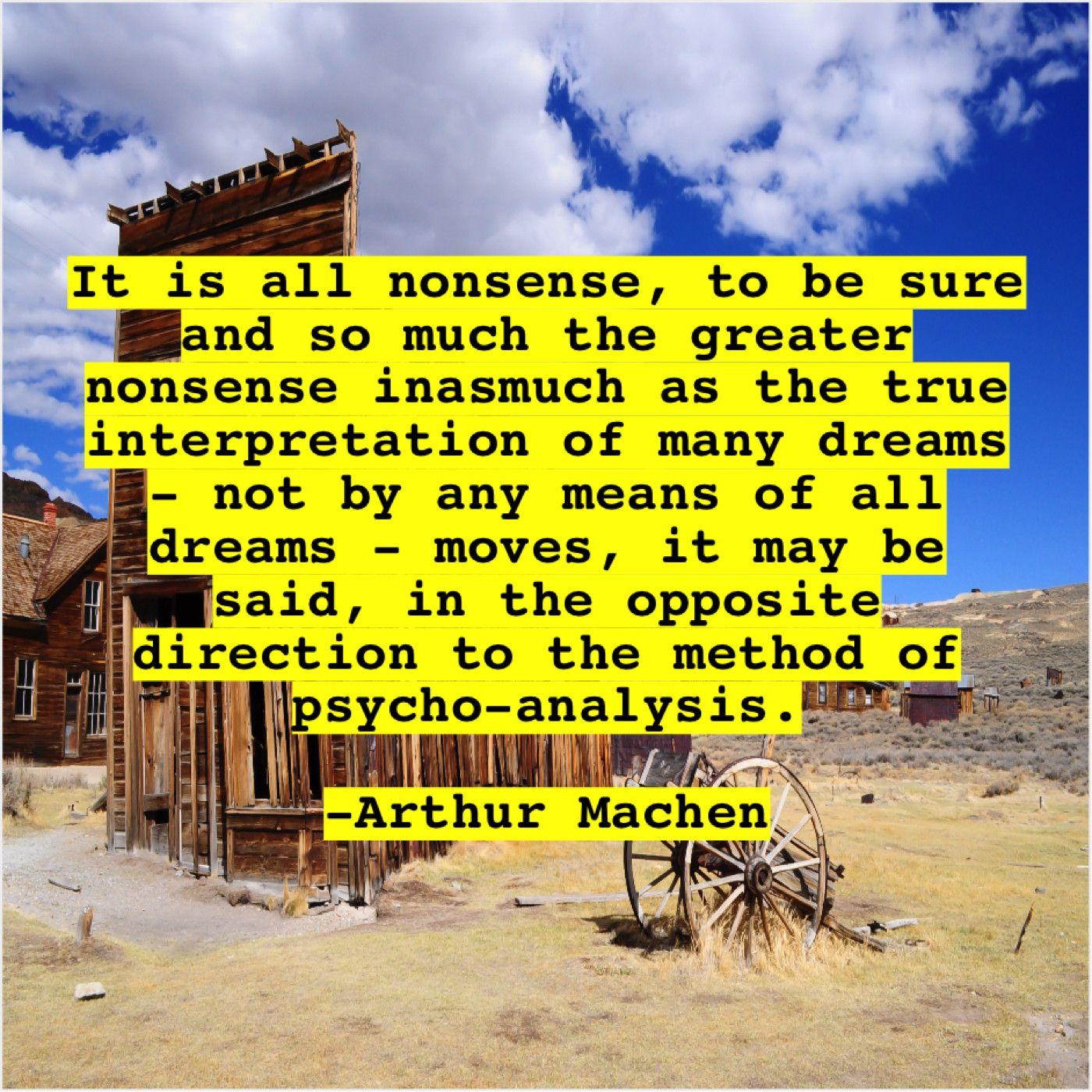 Arthur Machen It Is All Nonsense To Joel Osteen Thomas Friedman Michael