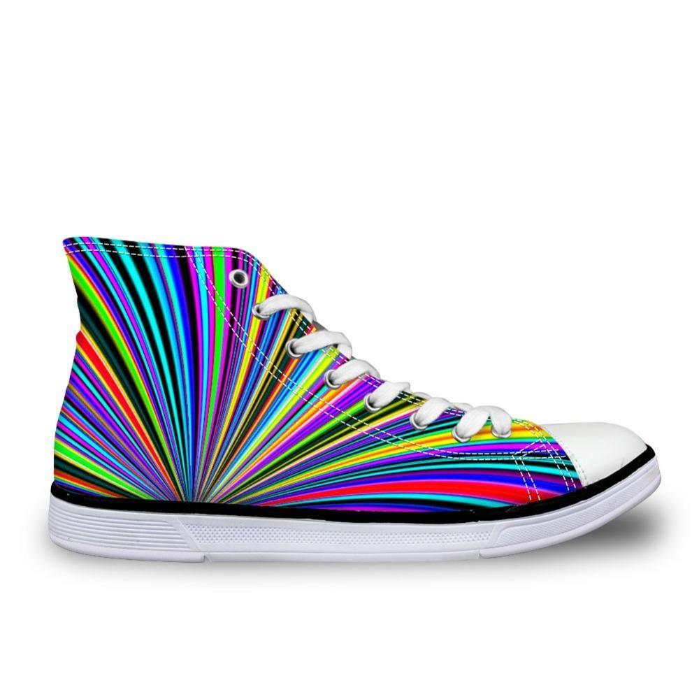 205bb61946dd Rainbow Color Fan Shoes   Sneakers
